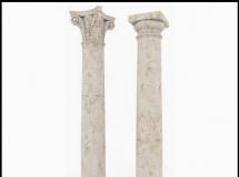 3D柱子模型  大理石雕刻柱子3D模型下载