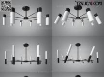 3D灯具模型  铁艺吊灯组合模型高品质 3D模型下载