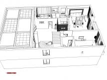 别墅整体室内模型黑白色-159M草图大师su模型