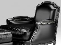 皮革沙发椅子脚踏3Dmax模型