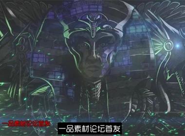 木乃伊节奏绿光粒子闪烁酒吧夜店LED动态背景视频素材