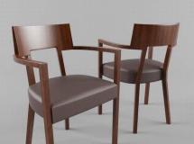 3D椅子模型  实木餐椅子模型