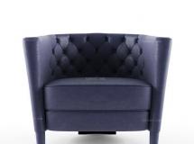 3D沙发椅模型  后现代时尚单人沙发3D模型