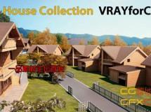 木楼房3D模型 TurboSquid – Log House C4D/3DS/OBJ
