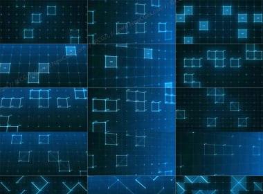 高科技主题的线条线框背景视频素材,共36例