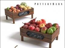 苹果和蔬菜的包装箱食物模型下载