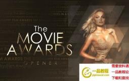 金色大气文字颁奖典礼包装片头 The Movie Awards Opener