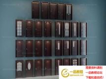 3D门窗模型  各种样式大门模型  高品质 3D模型下载
