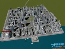400套maya大型写实场景建筑3d模型库资源素材包下载作业设计带贴图渲染