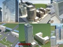 31个完整的生活片区3D建筑模型