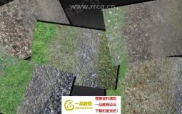 高品质地面纹理自然景观场景Unity游戏素材资源