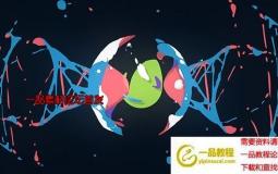 流体图形卡通Logo动画 Cartoon Logo