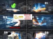 含晶格和重影效果的未来科技公司展示AE工程