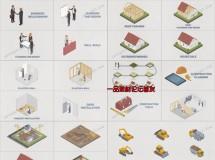 Isometric(等距视角)建筑施工主题元素合辑AE模板