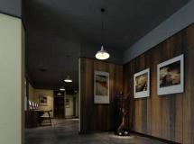 艺术复古办公厅装饰模型