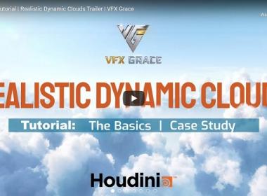 真实三维云层Houdini特效教程 Gumroad – Houdini Realistic Dynamic Clouds – VFX GR ...