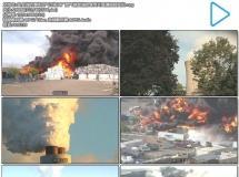 安全消防演练空气污染工厂废气排放消防宣传片高清视频实拍
