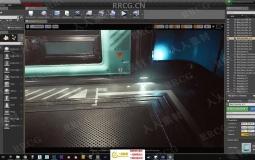 UE4模块化科幻游戏环境场景实例制作视频教程