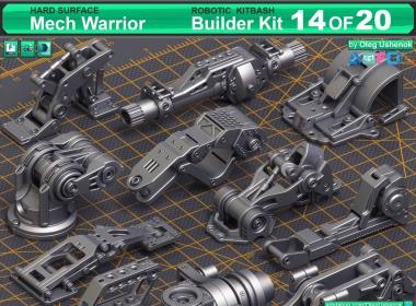 机械零件硬面模型3D模型 ArtStation – Mega Pack Sci-Fi Hard Surface KitBash 400 DETAILS + Hard Surface KitBash Vol.6