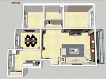 整体家装ap-8M草图大师su模型