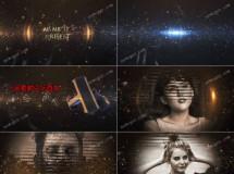 3D标题和百叶窗图像展示的AE模板,具有气势的史诗预告片