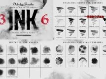 36个中国风水墨photoshop笔刷集合