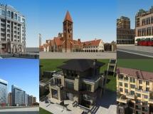 17套完整的建筑模型大集合
