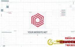 AE模板-科技感HUD界面Logo动画 Tech UI Screen Logo