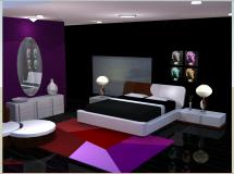 室内设计时尚简约卧室Modern Minimalistic Bedroom II-4M草图大师su模型