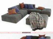 3D模型 大气布沙发模型 Divanidea MORBIDONE