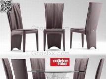 3D餐桌模型  现代圆餐桌椅组合3D模型 模型高品质 3D模型下载