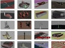 25个高精度的工业建筑类型3D模型下载工厂,港口设施,吊塔 ...