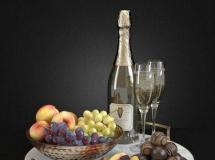 香槟水果 高品质模型