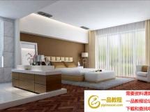 3D模型 现代开放式卧室模型