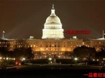 美国白宫夜景高清实拍视频素材1080P