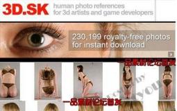 3D.SK机构高分辨率人体纹理贴图参考图合辑  共29000MB