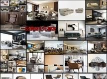 现代中式家具模型集合室内3D模型?