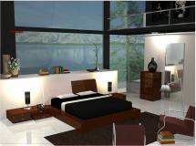 室内设计时尚简约卧室Modern Minimalistic Bedroom-6.78M草图大师su模型