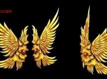 手绘黄金翅膀模型