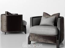 3D沙发模型 现代布艺单人沙发 3D模型下载