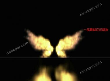 震撼火焰之翼视频素材,可叠加或抠像