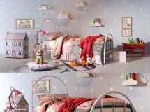3D儿童房模型下载 女孩房Girl bedroom set 01