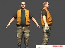 外国中年男子 高品质人物CG模型