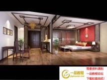 3D模型 中式3D卧室模型