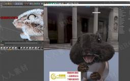 C4D角色毛发模拟动画场景工程源文件