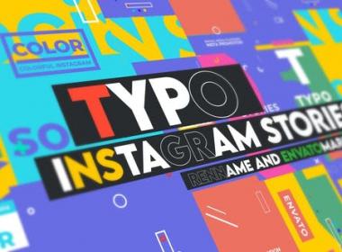 INS竖屏时尚创意图形文字标题排版动画 Typographic Instagram Stories Vol 0.1