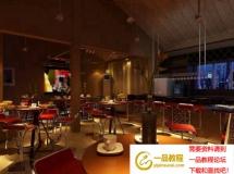 小酒吧3D模型效果图