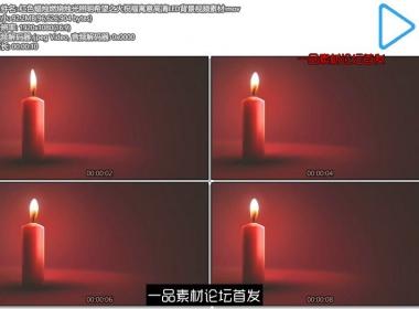红色蜡烛燃烧烛光照明希望之火祝福寓意高清LED背景视频素 ...