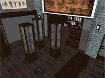 中式古典茶馆室内设计-10M草图大师su模型