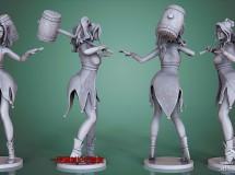 Cubebrush – Harley Quinn and Wonder Woman – 3D Printable Models